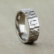 Titanium, Textured Ring with FREE Engraving! Available in widths 6 to 10mm
