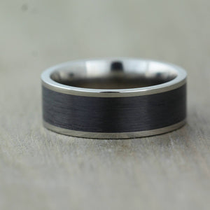 Carbon Fibre ring Wedding ring Titanium