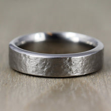 6mm Titanium, Distressed Finish, Comfort Fit