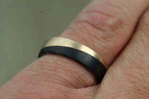 Carbon Fibre, Bronze & Titanium 5.5mm wide Wedding/Engagement Ring, Free Engraving!