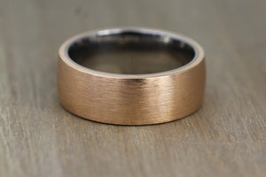 Bronze & Titanium 9mm wide Wedding/Engagement Ring