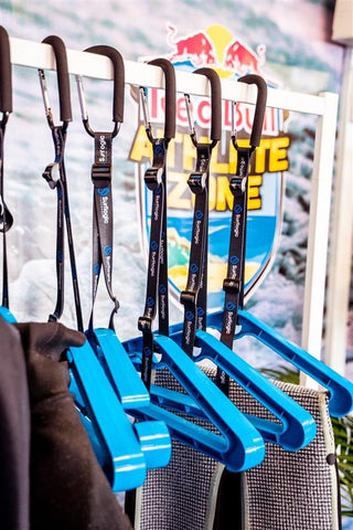Surflogic Double System Wetsuit Hanger At the Red Bull Athlete Zone in Margaret River Australia