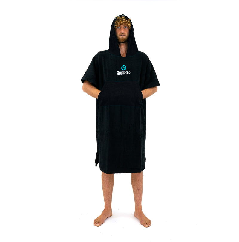 Surflogic Australia Black Hooded Towel