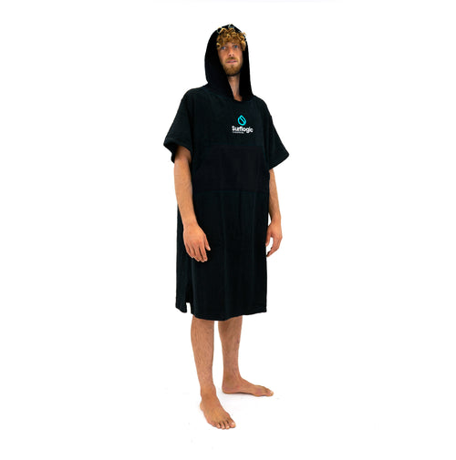 Black Surf Poncho Surflogic Australia