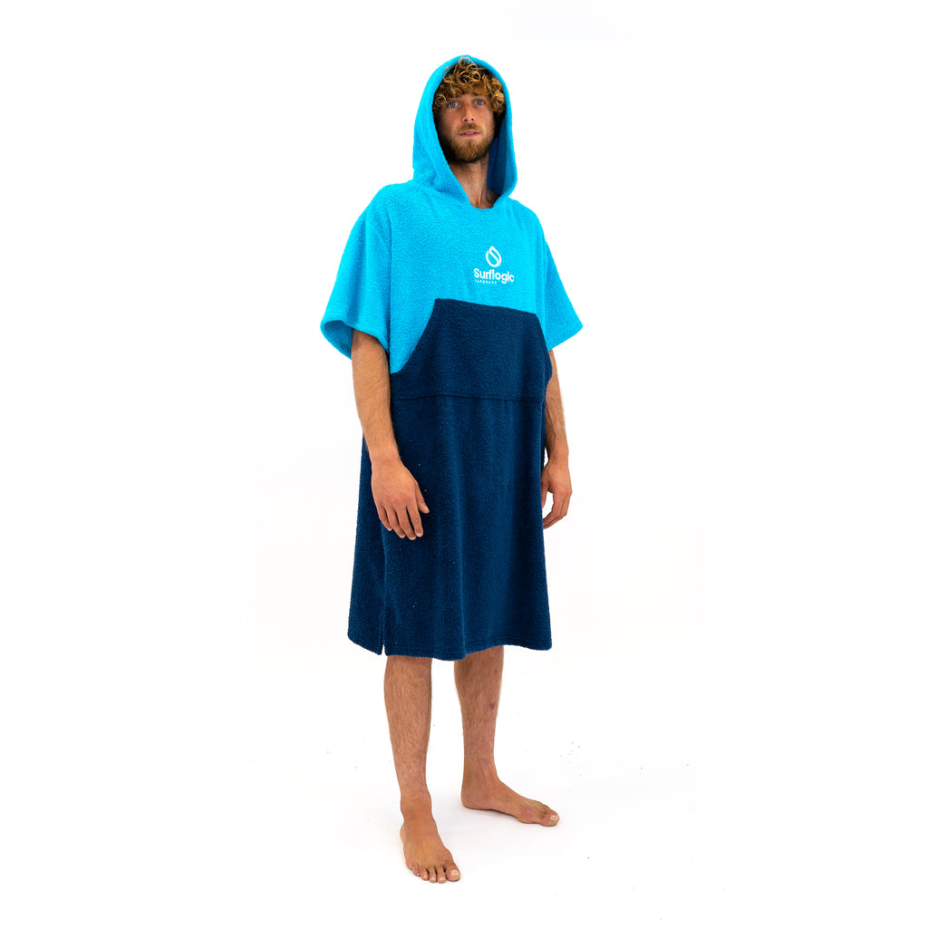 Hooded Towel Change Robe Blue Surflogic Australia