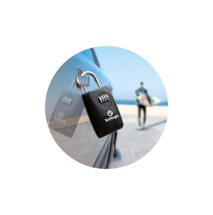 Surflogic Double System Key Vault Lock Box for Car Key Security Secured on Car Door Handle Using Shackle Connection to Lock the Key Vault to the Car