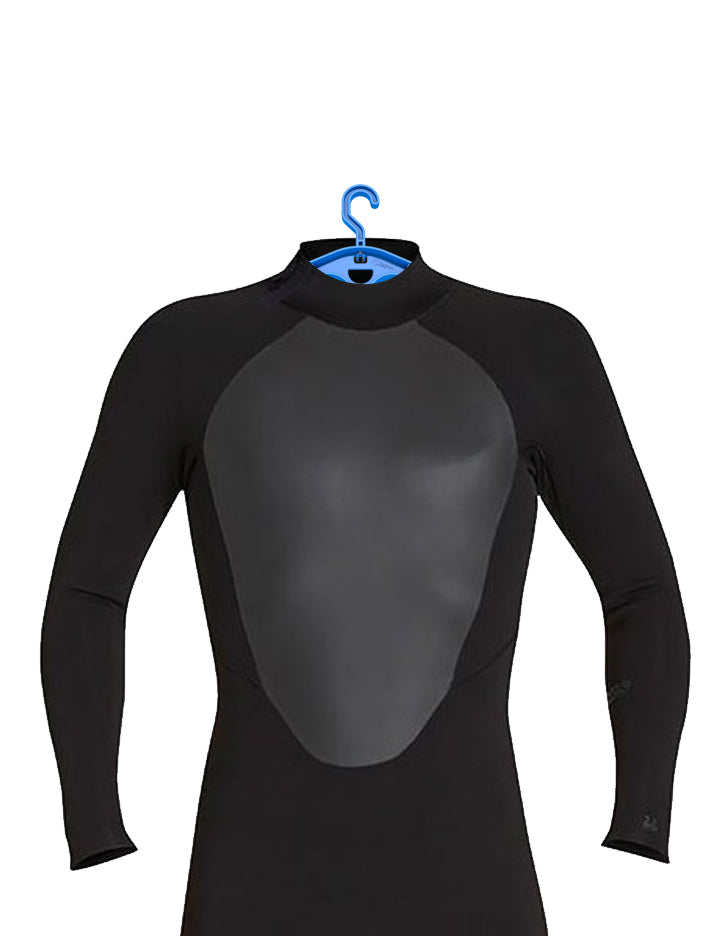 Surflogic Double System Wetsuit Hanger Removeable Clip Rotating Hook System Demonstrating How To Hang Your Wetsuit Properly By the Shoulders