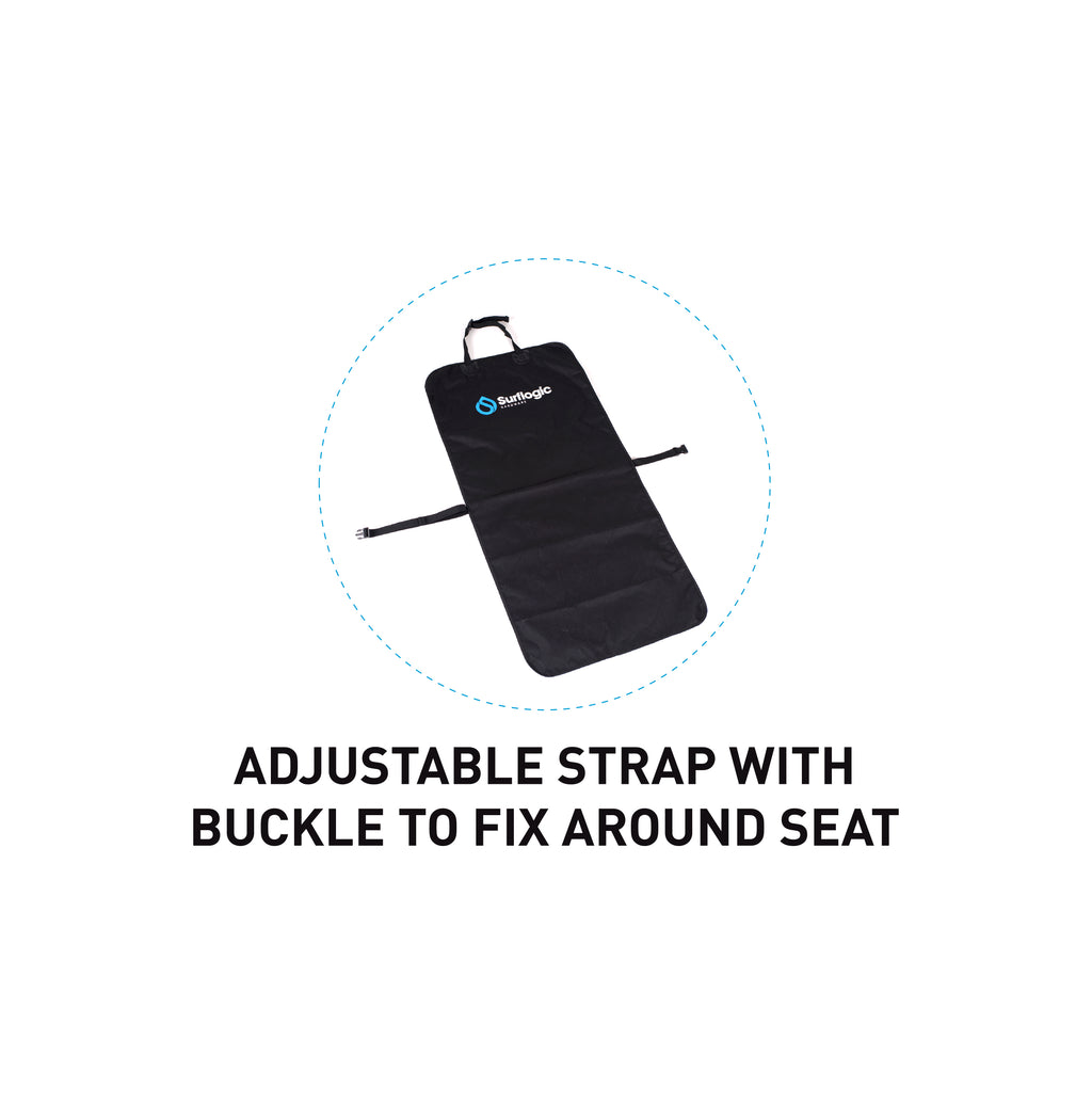 Surflogic Single Clip Waterproof Single Car Seat Cover Adjustable Strap with Buckle to Fix Around Seat