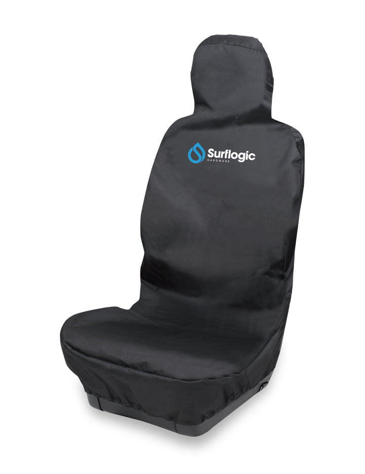 Surflogic Black Single Seat Waterproof Car Seat Cover Access Holes for Car Seat Arm Rests