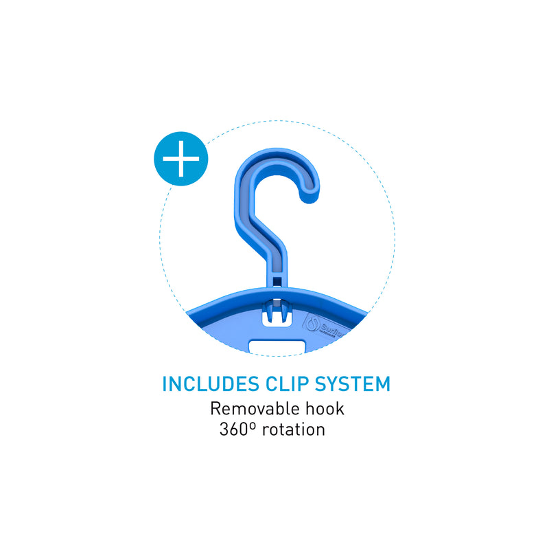 Surflogic Double System Wetsuit Hanger Removeable Clip Hanging System Additional Features Include 360 Degrees of Rotation