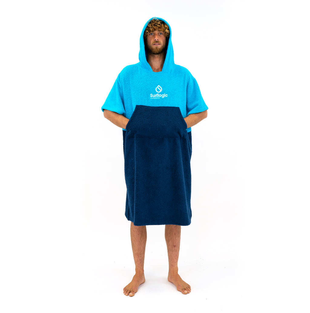 Blue Surf Towel Hooded Poncho Surflogic Hardware
