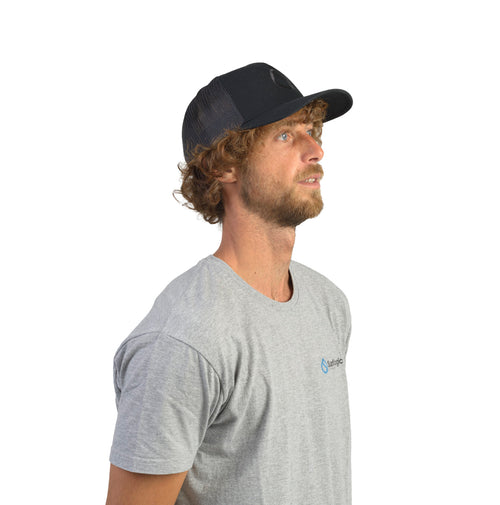 Surflogic Drop Curve Trucker Cap - Black