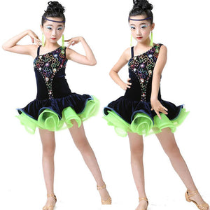 Girls Latin Styled Performance Skating Dresses