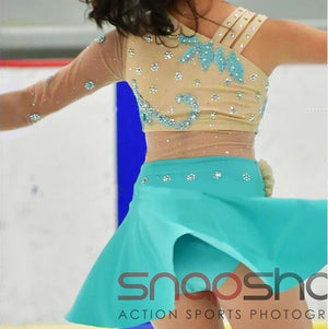 Blue Figure Skating Dress for Adult Competition