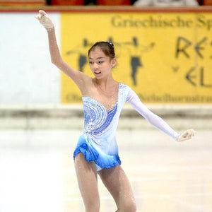 Graceful Custom Figure Skating Competition Dress for Girls