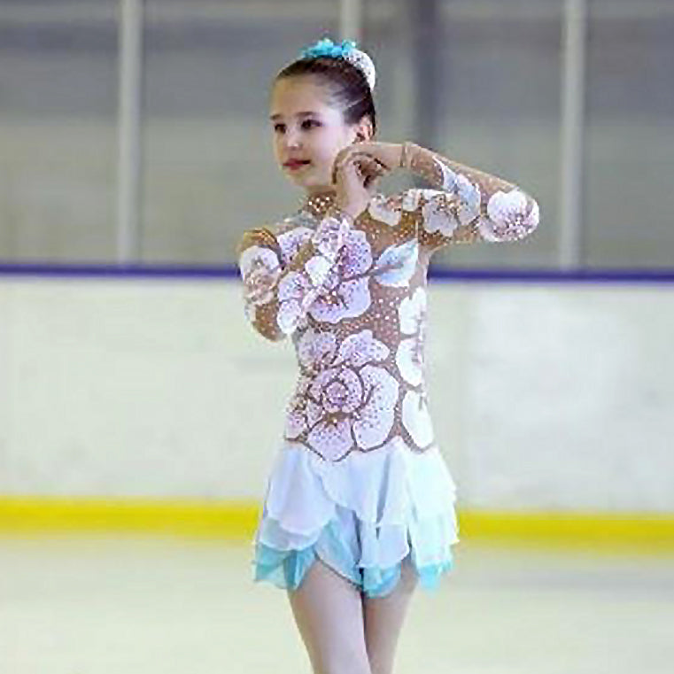 Custom Girls Ice Figure Skating Dress Graceful New Brand Kids Skating Dresses Competition  DR3430