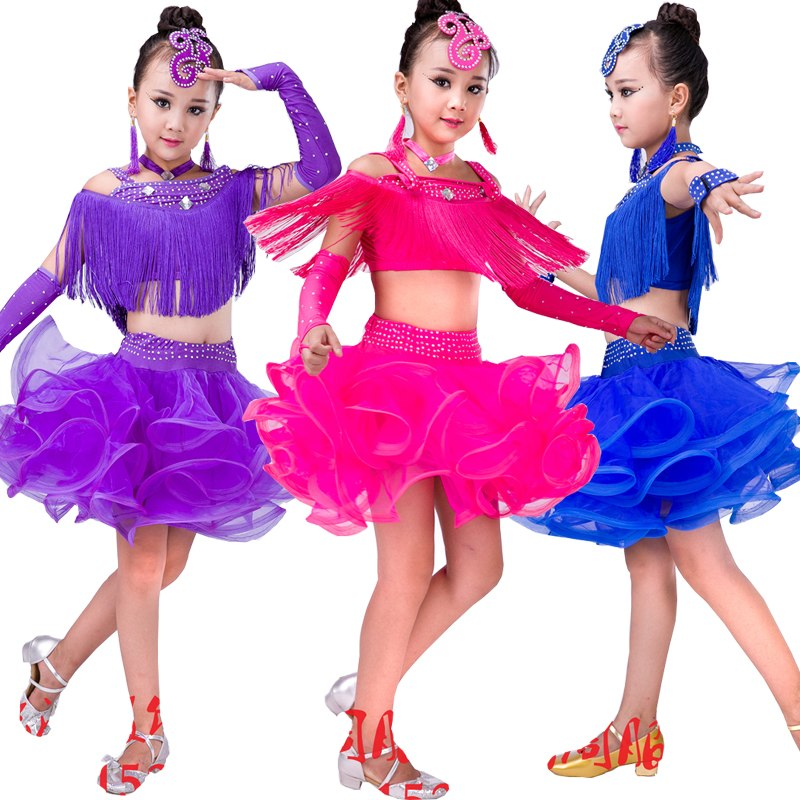 Girls Latin Freedance Ballroom Dresses