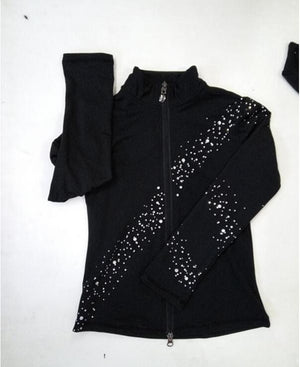Women's Black Figure Skating Warm Up Suit