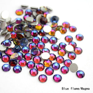 SS8-SS30 Rainbow Flat Back Glue On Rhinestones