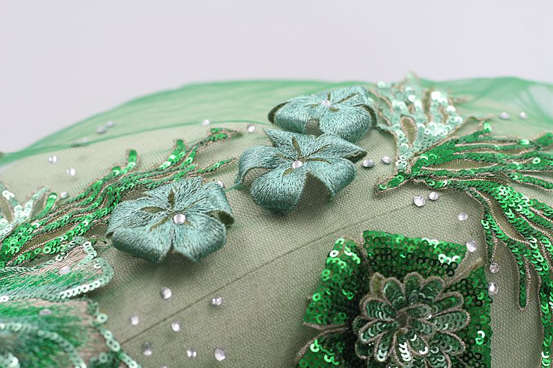 Handmade 3D Embroidered Lace Trim