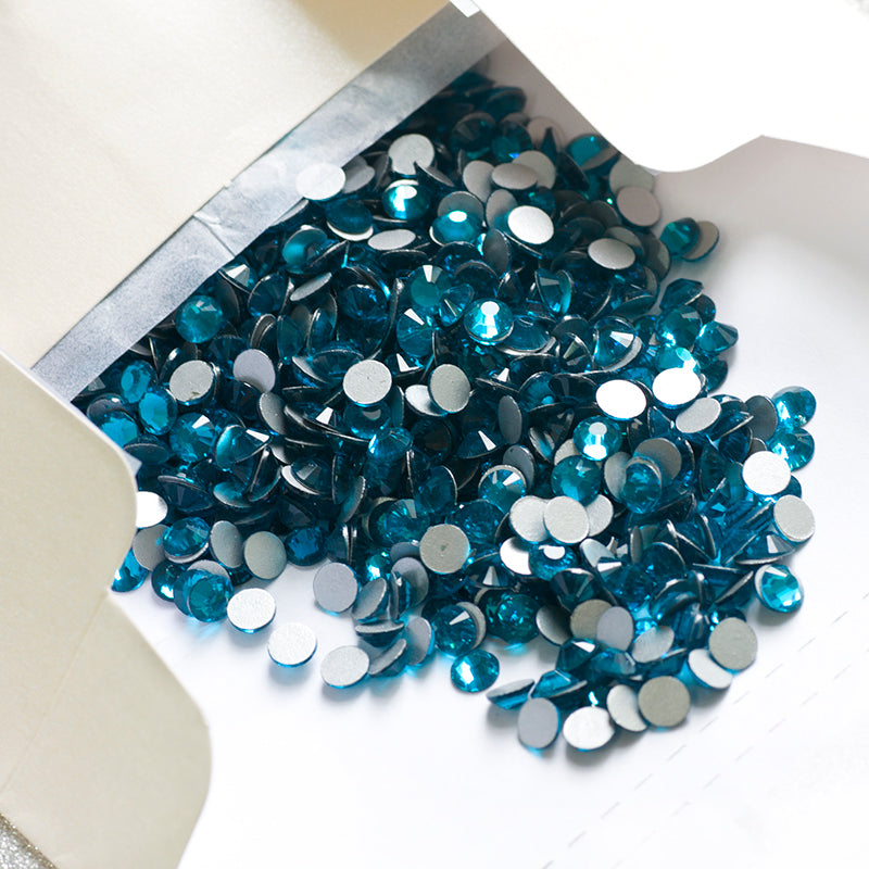 Blue Zircon SS8-SS34 Flat Back Non Hot Fix Rhinestone Crystals