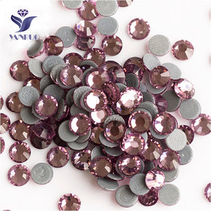 Light Amethyst SS6 -SS30 Strass Hot Fix Flatback Crystal Rhinestones