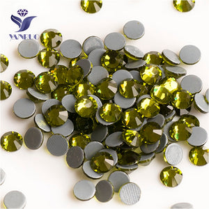 Olivine SS6-SS30 Flat Back Hot Fix Crystal Rhinestones