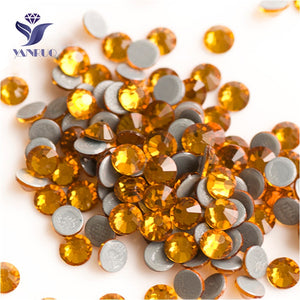 Topaz SS6-SS30 Topaz  Hot Fix Crystal Rhinestones 288-1440Pcs