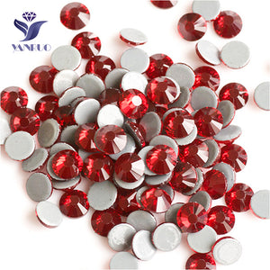 Dark Siam SS6-SS30 Hot Fix Crystal  Rhinestones 288-1440Pcs