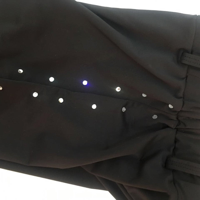 Custom Made Figure Skating Pants with Rhinestone Trim for Boys and Men