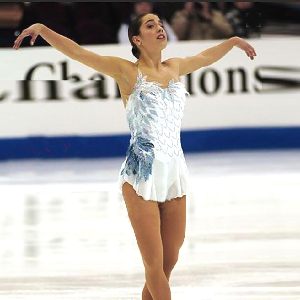 Custom White Figure Skating Dress for Women