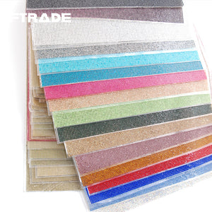 24x40cm Crystal Rhinestone Hotfix Applique Sheets