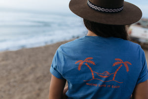 Mucho Aloha - Take It Easy Short Sleeve Tee in Blue