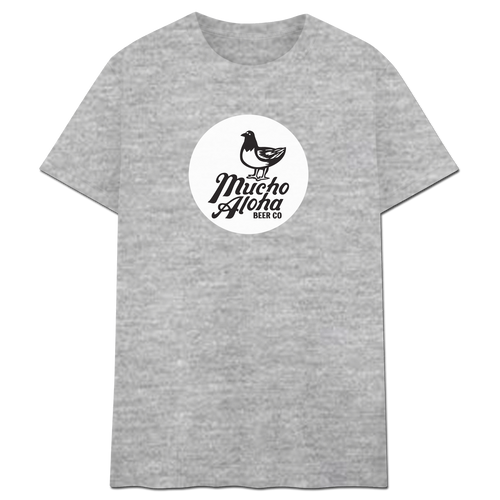 Mucho Aloha - Circle Logo Tee Heather Grey