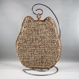 Crochet, Beige Owl Hot Pad Holder