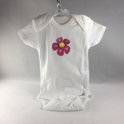 Baby Onsie for age 0-3mos.  Embroidered with a Pink Flower
