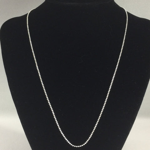 "18"" 1.5mm  Popcorn Bead Chain, Sterling"