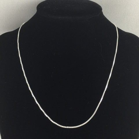 "18"" 1.5mm Box Chain, Sterling"