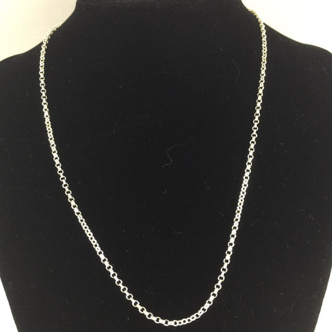 "18"" 2mm Curb Chain, Sterling"