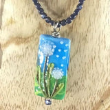Necklace, Field of Flowers Lampwork Bead