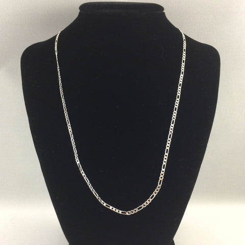 "18"" Figaro chain, sterling"