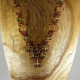 Necklace, Copper Wire Wrap with Grey beads