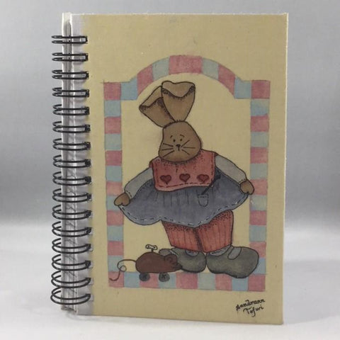 "Hand Painted Notepad, ""Pipsqueaks"" Pattern.  6""H x 4""W.  Lined pages.  Free Pen Included."
