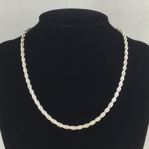 Chain, Sterling, Rope 16""