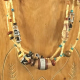 Necklace, Southwestern necklace.  Sterling
