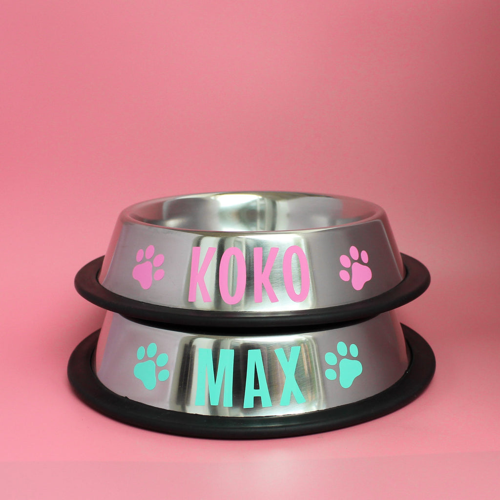 Personalised Dog Bowl - Stainless Steel by That Dog Shop - We have Afterpay!