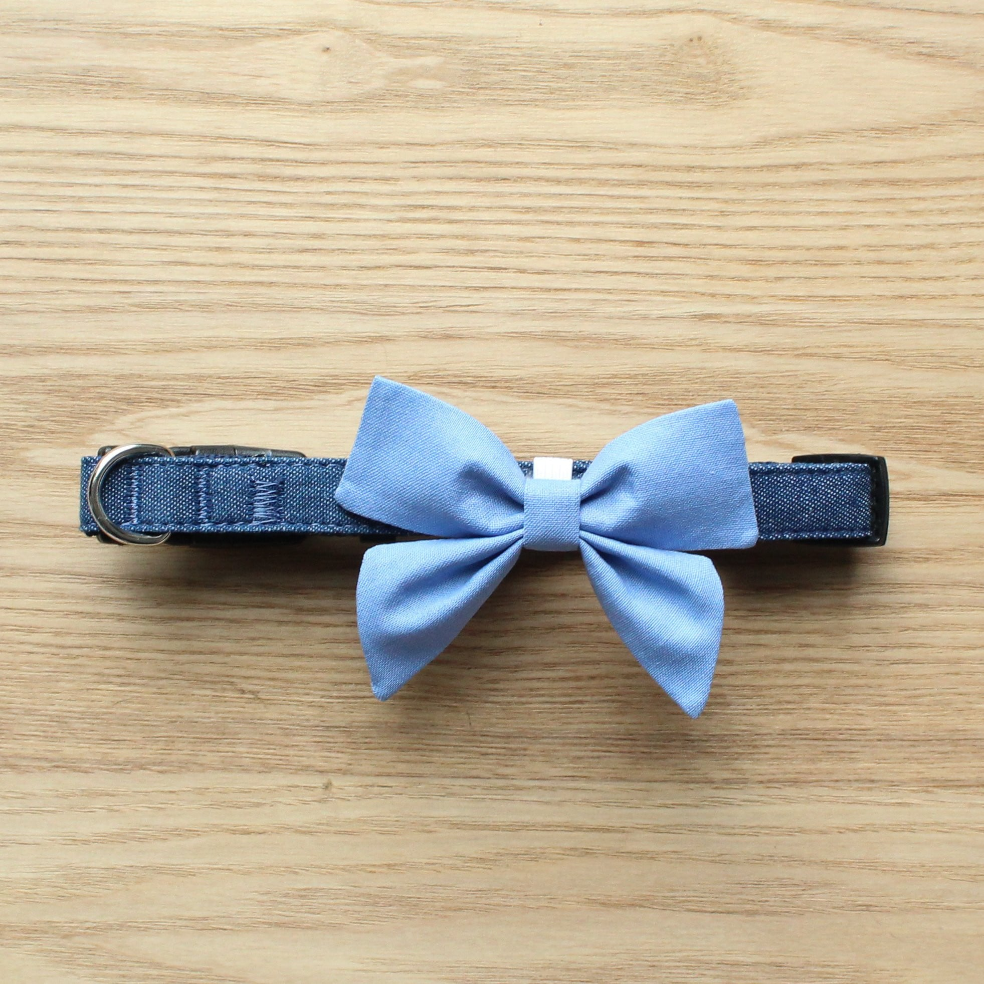 Monogram Dog Bow Tie - Light Blue by That Dog Shop - We have Afterpay!