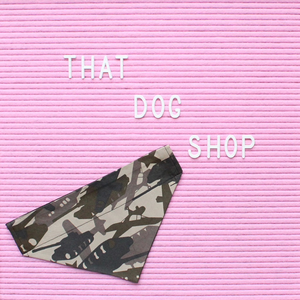 Collar Dog Bandana - Camo by That Dog Shop - We have Afterpay!