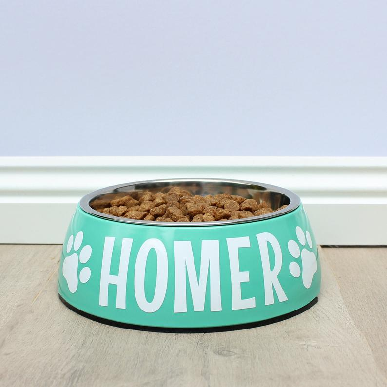 Personalised Dog Bowl - Melamine/Stainless Steel - Small