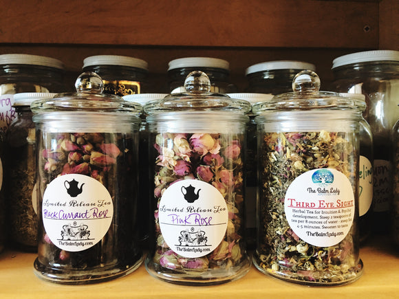 Apothecary Jars filled with Tea